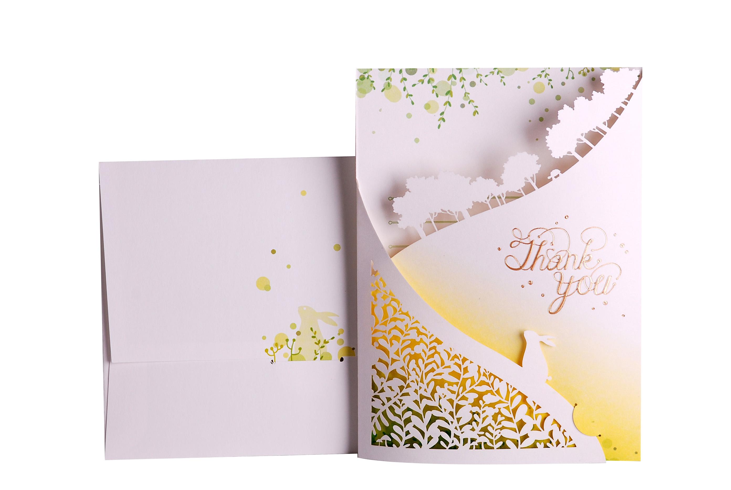 Bon design laser cut card set card and envelop flower card set lac21 laser cut thank you card envelopes greeting card setg kristyandbryce Choice Image