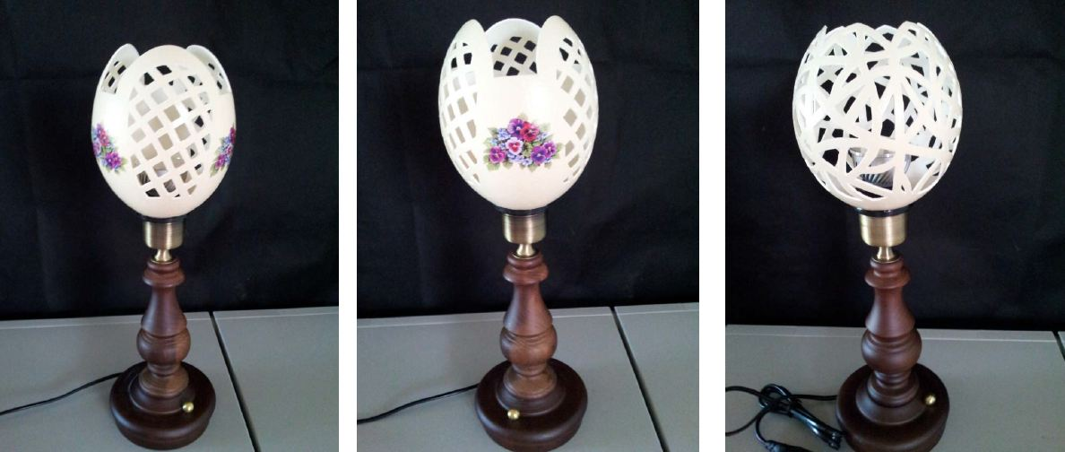 Ostrich Eggs LED Stand | Yeoran Art