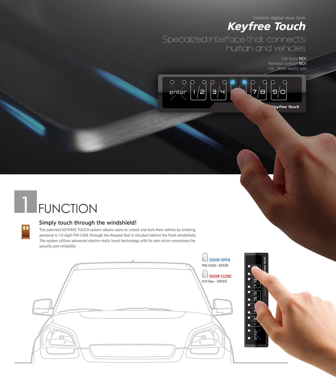 Vehicle digital door lock for the car sharing | BISRO CO , LTD
