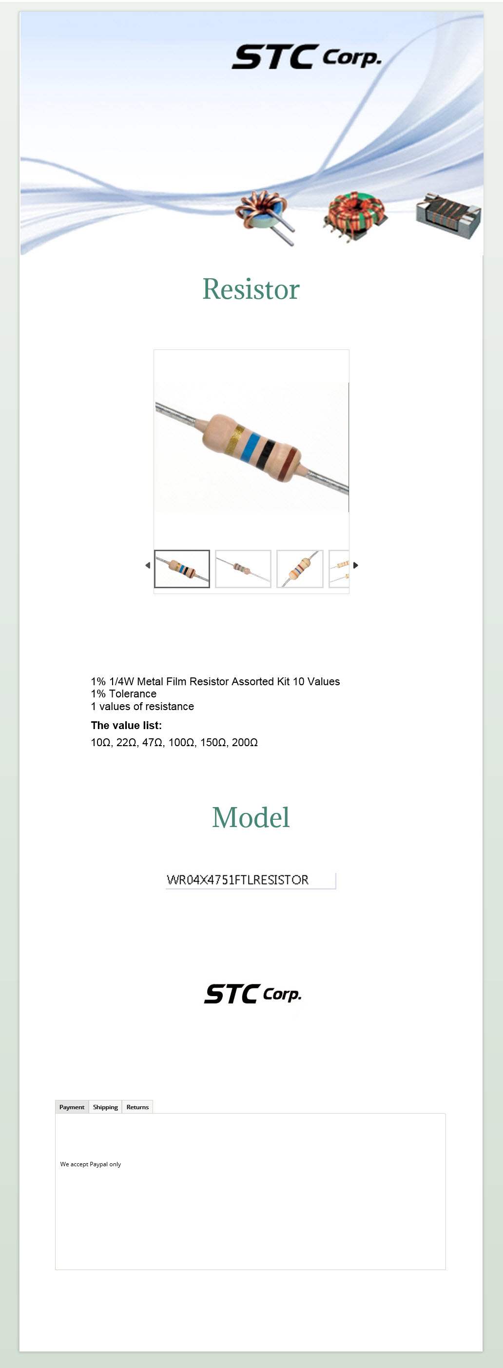 Stc Computer Parts Electronic Resistor Related Keywords Suggestions Long